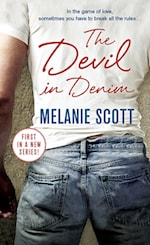 Book cover The Devil in Denim by Melanie Scott