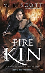 Book cover Fire Kin by M.J. Scott