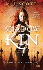 Book cover Shadow Kin by M.J. Scott