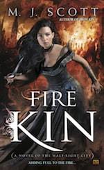 Book cover Fire Kin by M.J. Scott