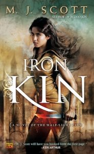 Book cover Iron Kin by M.J. Scott